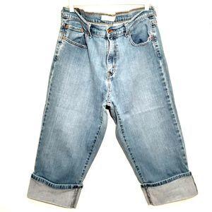 LEVI'S womens jeans size 16 blue stonewash 515